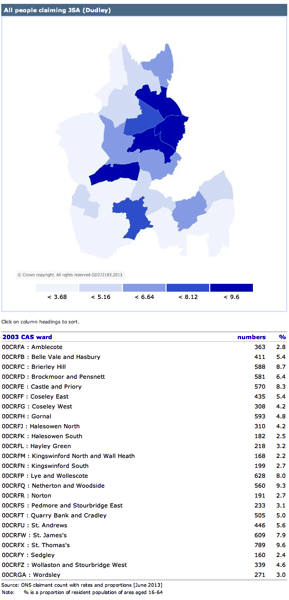Ward map all JSA June 2013