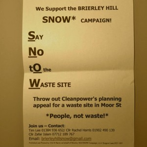 Say No to Waste (SNOW) campaign continues as new  hazardous waste threat emerges