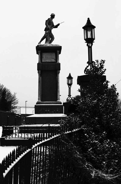 War memorial snow